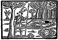0065078 © Granger - Historical Picture ArchiveSHAKESPEARE: FALSTAFF.   From the play The Merry Wives of Windsor: woodcut, early 17th century.