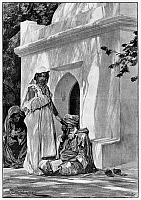 0098770 © Granger - Historical Picture ArchiveMOROCCO: FORTUNE TELLER.   A professional fortune teller in Morocco. Illustration, English, 1893.