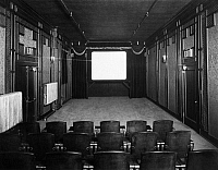 0098821 © Granger - Historical Picture ArchivePROJECTION ROOM, 1920s.   Projection room at the New York City offices of the Fox Film Corporation, equipped for sound pictures using Movietone technololgy, late 1920s.