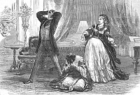 0098841 © Granger - Historical Picture ArchiveST. JAMES' THEATRE, 1870.   Scene from 'Fernande,' at the St. James' Theatre, London, England. Wood engraving, 1870.