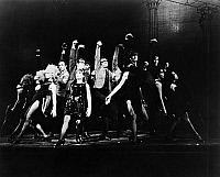 0123556 © Granger - Historical Picture ArchiveSWEET CHARITY, 1966.   Dance number in the Broadway production of the American musical 'Sweet Charity,' directed and choreographed by Bob Fosse, 1966.