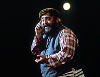 0123576 © Granger - Historical Picture ArchiveFIDDLER ON THE ROOF.   Tevye, the milkman, in a German production of the 1964 American musical 'Fiddler on the Roof' based on tales by Sholem Aleichem.