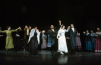 0123610 © Granger - Historical Picture ArchiveFIDDLER ON THE ROOF.   The wedding scene in a German production of the 1964 American musical 'Fiddler on the Roof,' based on the tales of Sholem Aleichem.