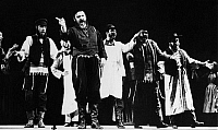 0174779 © Granger - Historical Picture ArchiveFIDDLER ON THE ROOF, 1964.   Zero Mostel as Teyve in 'Fiddler on the Roof.' Photograph, 1964.