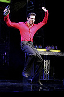 0379841 © Granger - Historical Picture ArchiveTHEATER PERFORMANCE.    'Saturday Night Fever' - scene from the musical based on the film. At the Apollo, Victoria, London. Opened July 2005. Full credit: Tristram Kenton / Lebrecht Music & Arts / Granger, NYC -- All rights reserved.