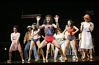 0379843 © Granger - Historical Picture ArchiveTHEATER PERFORMANCE.    'Saturday Night Fever' - scene from the musical based on the film. At the Apollo, Victoria, London. Opened July 2005. Full credit: Tristram Kenton / Lebrecht Music & Arts / Granger, NYC -- All rights reserved.