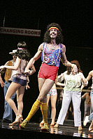 0379844 © Granger - Historical Picture ArchiveTHEATER PERFORMANCE.    'Saturday Night Fever' - scene from the musical based on the film. At the Apollo, Victoria, London. Opened July 2005. Full credit: Tristram Kenton / Lebrecht Music & Arts / Granger, NYC -- All rights reserved.