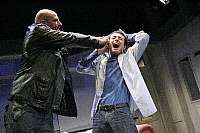 0380769 © Granger - Historical Picture ArchiveTHEATER PERFORMANCE.    Simon Farquhar's play 'Rainbow Kiss' - Graham McTavish (Scobie) and Joe McFadden (Keith) in a production at the Royal Court Theatre, London. Opening April 2006. Full credit: Tristram Kenton / Lebrecht Music & Arts / Granger, NYC -- All rights reserved.