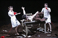 0381728 © Granger - Historical Picture ArchiveTHEATER PERFORMANCE.    Fabulous Dance Theatre's 'The Bull' - Daphne Strothmann, Vladislav Benito Soltys and Rachel Poirier in a co-production with barbicanbite07 and the Dublin Theatre Festival at the Barbican Theatre, London, UK, February 2007. Full credit: Tristram Kenton / Lebrecht Music & Arts / Granger, NYC -- All rights reserved.