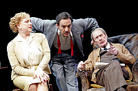 0381867 © Granger - Historical Picture ArchiveTHEATER PERFORMANCE.    John Osborne's play 'The Entertainer' - Pam Ferris as Phoebe Rice, Robert Lindsay as Archie Rice and John Normington as Billy Rice in a production at the Old Vic Theatre, London, UK, March 2007. Full credit: Tristram Kenton / Lebrecht Music & Arts / Granger, NYC -- All rights