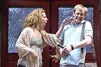 0382007 © Granger - Historical Picture ArchiveTHEATER PERFORMANCE.    Alan Parker's musical 'Fama' at the Shaftebury Theatre, London, UK, May 2007. Natalie Casey and Ian H Watkins. Full credit: Tristram Kenton / Lebrecht Music & Arts / Granger, NYC -- All rights reserved.