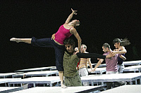 0382264 © Granger - Historical Picture ArchiveTHEATER PERFORMANCE.    William Forsythe's dance 'One Flat Thing' - a D.A.N.C.E production at the Sadler's Wells, London, UK, June 2007. D.A.N.C.E.: Dance Apprenticeship Network aCross Europe. Full credit: Tristram Kenton / Lebrecht Music & Arts / Granger, NYC -- All rights reserved.
