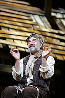 0382280 © Granger - Historical Picture ArchiveTHEATER PERFORMANCE.    'Fiddler On The Roof' - performance of the musical at the Savoy Theatre, London, UK, May 2007. Shown: Henry Goodman as Tevye. Music by Jerry Bock. Lyrics by Sheldon Harnick. Book by Joseph Stein. Full credit: Tristram Kenton / Lebrecht Music & Arts / Granger, NYC -- All right