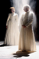 0382392 © Granger - Historical Picture ArchiveTHEATER PERFORMANCE.    Shakespeare's play 'Richard II' - a production at the Courtyard Theatre, Stratford-upon-Avon, UK, August 2007. Shown: Hannah Barrie as Queen Isabel and Jonathan Slinger as King Richard II. Full credit: Tristram Kenton / Lebrecht Music & Arts / Granger, NYC -- All rights reser