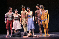 0382529 © Granger - Historical Picture ArchiveTHEATER PERFORMANCE.    'Finale' - by Carlos Acosta at Sadler's Wells. Opened 23 October 2007. Shown: Carlos Acosta and guest artists from the Ballet Nacional de Cuba. Full credit: Tristram Kenton / Lebrecht Music & Arts / Granger, NYC -- All Rights Reserved.