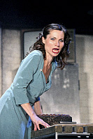 0382583 © Granger - Historical Picture ArchiveTHEATER PERFORMANCE.    Kate Fleetwood - as Lady Macbeth in Shakespeare's 'Macbeth.' At the Gielgud Theatre, London. Opened 26 September 2007. Play by William Shakespeare. English poet and playwright baptised 26 April 1564 – 23 April 1616. Full credit: Tristram Kenton / Lebrecht Music & Arts / Granger, NYC -- All Rights Reserved.