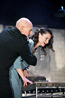 0382584 © Granger - Historical Picture ArchiveTHEATER PERFORMANCE.    'Macbeth' - shown: Patrick Stewart as Macbeth and Kate Fleetwood as Lady Macbeth in Shakespeare's Macbeth. At the Gielgud Theatre, London. Opened 26 September 2007. Play by William Shakespeare. English poet and playwright baptised 26 April 1564 – 23 April 1616. Full credit: Tristram Kenton / Lebrecht Music & Arts / The Granger Collect