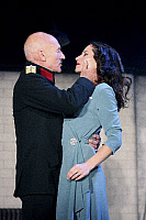 0382585 © Granger - Historical Picture ArchiveTHEATER PERFORMANCE.    'Macbeth' - shown: Patrick Stewart as Macbeth and Kate Fleetwood as Lady Macbeth in Shakespeare's Macbeth. At the Gielgud Theatre, London. Opened 26 September 2007. Play by William Shakespeare. English poet and playwright baptised 26 April 1564 – 23 April 1616. Full credit: Tristram Kenton / Lebrecht Music & Arts / The Granger Collect