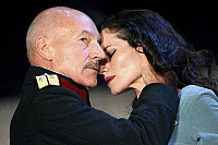 0382586 © Granger - Historical Picture ArchiveTHEATER PERFORMANCE.    'Macbeth' - shown: Patrick Stewart as Macbeth and Kate Fleetwood as Lady Macbeth in Shakespeare's Macbeth. At the Gielgud Theatre, London. Opened 26 September 2007. Play by William Shakespeare. English poet and playwright baptised 26 April 1564 – 23 April 1616. Full credit: Tristram Kenton / Lebrecht Music & Arts / The Granger Collect