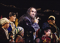 0382822 © Granger - Historical Picture ArchiveTHEATER PERFORMANCE.    Jonathan Pryce - as Fagin in 'Oliver!' Production at the London Palladium, opened 8 December 1994. Musical by Lional Bart based on Charles Dicken's novel Oliver Twist. Full credit: Tristram Kenton / Lebrecht Music & Arts / Granger, NYC -- All rights reserved.