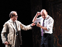 0402217 © Granger - Historical Picture ArchiveTHEATER PERFORMANCE.    Alan Howard and Ralph Fiennes in 'Oedipus' at Olivier, National Theatre, London, Opening 15 October 2008. Full credit: Tristram Kenton / Lebrecht Music & Arts / Granger, NYC -- All rights reserved.