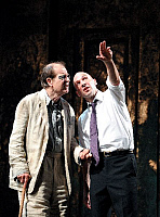 0402218 © Granger - Historical Picture ArchiveTHEATER PERFORMANCE.    Alan Howard and Ralph Fiennes in 'Oedipus' at Olivier, National Theatre, London, Opening 15 October 2008. Full credit: Tristram Kenton / Lebrecht Music & Arts / Granger, NYC -- All rights reserved.