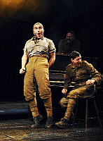 0402533 © Granger - Historical Picture ArchiveTHEATER PERFORMANCE.    Birdsong, written by Sebastian Faulks, directed by Trevor Nunn, at the Comedy Theatre, London. Showing a scene with Ben Barnes (Stephen Wraysford) and Genevieve O'Reilly (Isabelle Azaire). Full credit: Tristram Kenton / Lebrecht Music & Arts / Granger, NYC -- All rights reser