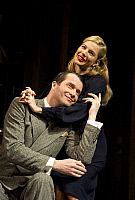 0403075 © Granger - Historical Picture ArchiveTHEATER PERFORMANCE.    'Flare Path' by Terence Rattigan, Theatre Royal Haymarket, London. Scene with James Purefoy (as Peter) and Sienna Miller (as Patricia). Opening 10 March 2011. Full credit: Tristram Kenton / Lebrecht Music & Arts / Granger, NYC -- All Rights Reserved.