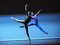 0403689 © Granger - Historical Picture ArchiveTHEATER PERFORMANCE.    Ksenia Dubrovina and Alexey Nedviga in Approximate Sonata, part of the Forsythe Programme by The Mariinsky Ballet at Sadler's Wells, London, Opening 13 October 2008. Full credit: Tristram Kenton / Lebrecht Music & Arts / Granger, NYC -- All rights reserved.