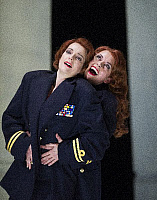 0404186 © Granger - Historical Picture ArchiveTHEATER PERFORMANCE.    Pamela Helen Stephen (Dido) and Heather Shipp (Sorceress), in 'Dido and Aeneas' From the double bill 'La Voix Humaine' and 'Dido' and Aeneas by Opera North at Grand Theatre, Leeds. 14 - 23 February 2013. Opera by Henry Purcell with libretto by Nahum Tate. Full credit: Tristram Kenton / Lebrecht Music & Arts / Granger, NYC -- All right