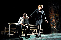 0404308 © Granger - Historical Picture ArchiveTHEATER PERFORMANCE.    Ralph Fiennes and Clare Higgins in 'Oedipus' at Olivier, National Theatre, London, Opening 15 October 2008. Full credit: Tristram Kenton / Lebrecht Music & Arts / Granger, NYC -- All rights reserved.