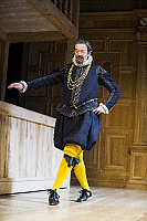 0404692 © Granger - Historical Picture ArchiveTHEATER PERFORMANCE.    Stephen Fry (Malvolio) in Twelfth Night by William Shakespeare at Apollo Theatre, London. (Opening 16-11-12). Full credit: Tristram Kenton / Lebrecht Music & Arts / Granger, NYC -- All rights reserved.