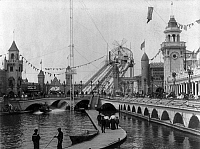 0105982 © Granger - Historical Picture ArchiveCONEY ISLAND: CHUTE RIDE.   The 'The Chutes' ride at Luna Park amusement park, Coney Island, Brooklyn, New York. Photograph, c1904.