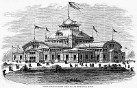 0078096 © Granger - Historical Picture ArchiveCENTENNIAL FAIR, 1876.   'The Women's Pavilion, on Belmont Avenue, near the Horticultural Grounds.' Contemporary wood engraving.