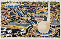 0093583 © Granger - Historical Picture ArchiveNEW YORK WORLD'S FAIR.   View of Constitution Mall and Theme Center of the 1939 World's Fair at New York. Contemporary American postcard.