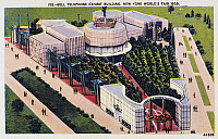 0093600 © Granger - Historical Picture ArchiveNEW YORK WORLD'S FAIR.   Bell Telephone exhibit building at the 1939 World's Fair at New York. Contemporary American postcard.