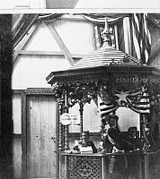 0093658 © Granger - Historical Picture ArchiveICE CREAM STAND, 1864.   The ice cream stand at the Metropolitan Fair, held at New York in 1864 to raise money to care for wounded Union soldiers.