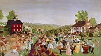 0130305 © Granger - Historical Picture ArchiveCOUNTRY FESTIVAL, 1853.   Pennsylvania Dutch country festival. American painting by an unknown artist, 1853.