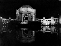 0172710 © Granger - Historical Picture ArchivePANAMA-PACIFIC EXPOSITION.   The dome of the Palace of Fine Arts at night from across the Fine Arts Lagoon, at the Panama-Pacific Exposition in San Francisco, California. Photograph, 1915.