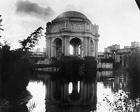 0172712 © Granger - Historical Picture ArchivePANAMA-PACIFIC EXPOSITION.   The dome of the Palace of Fine Arts from across the Fine Arts Lagoon, at the Panama-Pacific Exposition in San Francisco, California. Photograph, 1915.