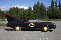 0127617 © Granger - Historical Picture ArchiveDENALI NATIONAL PARK.   Batmobile parked roadside near Denali National Park, Alaska. Photograph by Carol M. Highsmith, August 2008.