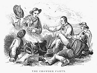 0044178 © Granger - Historical Picture ArchivePICNIC, 1849.   'The Chowder Party.' Steel engraving, American, 1849.