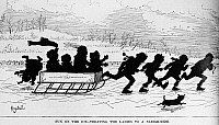 0260588 © Granger - Historical Picture ArchiveSLEIGHING, 1882.   'Fun on the ice - treating the ladies to a sleigh-ride.' Illustration by Henry Stull, published in 'Harper's Young People,' 14 February 1882.