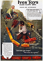 0133533 © Granger - Historical Picture ArchiveELECTRIC TRAIN AD, 1918.   American advertisement for an electric train made by Ives Toys, 1918.