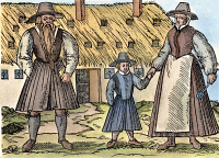 0077414 © Granger - Historical Picture ArchiveANABAPTIST FAMILY.   An Anabaptist family of the Hutterite sect of central Europe. Woodcut, 16th century.