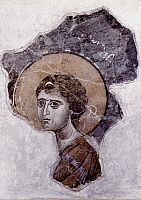 0018795 © Granger - Historical Picture ArchiveARCHANGEL GABRIEL.   Fragment of a Macedonian fresco, 12th-13th century.