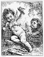 0092153 © Granger - Historical Picture ArchiveBOUCHER: CHERUBIM.   Etching by Francois Boucher (1703-1770).