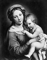 0097494 © Granger - Historical Picture ArchiveSASSOFERRATO: MADONNA.   Madonna with child, from the Church of Santa Maria Formosa, Venice. Painting, 17th century, by Sassoferrato.