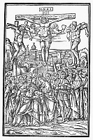 0097548 © Granger - Historical Picture ArchiveJESUS: CRUCIFIXION.   Woodcut, 1550.