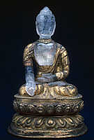 0105540 © Granger - Historical Picture ArchiveBUDDHA, 17th CENTURY.   Buddha Maitreya, the Buddha who has not yet appeared on earth. Rock crystal sculpture, Nepali, 17th century.